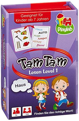 30592e4501c1e5 Jumbo Jeux 18172 - Tam Tam Lire Niveau 1, Jeux de Cartes