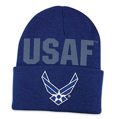 Officially Licensed United States United States Air Force Cuffed Beanie Hat Cap Lid Skull by Tromic