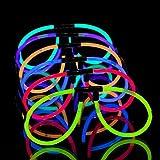 EVENT LIGHTS 50 leuchtende Knicklichter Brillen - Leuchtbrillen Set (50 Brillen)