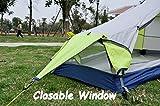 GEERTOP Bivvy Biwaksack Trekkingzelt Campingzelt Zelt Minipack Leicht – 213 x 101 x 91 cm H (1,9kg) -1 Person 3 Jahreszeiten für Outdoor-Camping Wandern Reisen und Klettern (grau) - 4