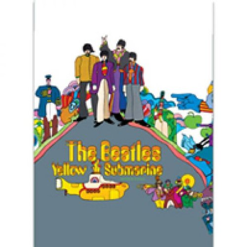The Beatles - Rock Band Metall Magnet Kühlschrankmagnet (Yellow Submarine Group Shot) 9 x 6,7 cm (Beatles Tasche)
