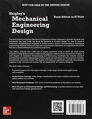 Buy Shigley S Mechanical Engineering Design In Si Units On Amazon Paisawapas Com