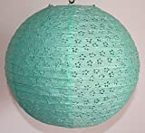 AAF Nommel ® 350, Lampion 1 Stk. Papier grün japanisch rund gelöchert. Durchmesser 40 cm