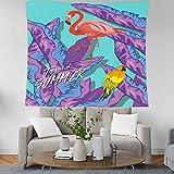 Lizpwq Tapisserie Tapisserie Etoffe Murale Rideaux Tropicaux Flamingo Couverture Murale Decoree A La Maison Deco Salon Mur Moquette Alfombra A
