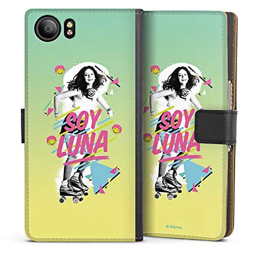 DeinDesign BlackBerry KeyOne Tasche Leder Flip Case Hülle Disney Soy Luna Fanartikel Merchandise Rollergirl