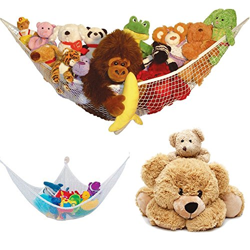Großes Spielzeug Hängematte weichem Teddy Mesh Baby Kinder Schlafzimmer ordentliche Aufbewahrung Kinderzimmer Net, Ecke Spielzeug Hängematte (Teddybären Sammlerstücke)