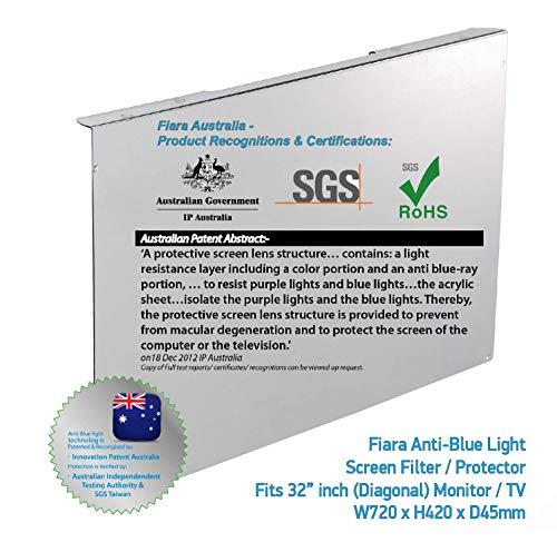 Grand Opening SALE 20% OFF ON Fiara anti-blue Light Display Filter-32Zoll) (geeignet für die meisten-32Zoll) LED-/LCD-Fernseher/Bildschirme W740x 460mm x D55mm, Stärke 2mm) und schützt nachweislich Vision von INNOVATION Patent Australien & Zertifiziert von Australian Independent Test. Schützt nachweislich Vision, Innovation von Patent Australia & Australian Independent Test zertifiziert Authority, speziell entwickelt, um bis zu 99,99% blue-light und UV (380Nm ~ 480Nm) Lichtquellen in Arbeiten und Wohnambiente.