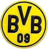 Aufnäher Borussia Dortmund Emblem - 10 cm + gratis Aufkleber, Flaggenfritze®