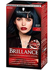 Schwarzkopf Brillance - Coloration Permanente Intense - Eclat de Nuit Noir Bleuté 891