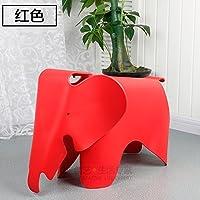 Stool Dana Carrie Elephant child chair kindergarten cute plastic baby cartoon elephant elephant, red