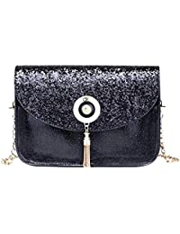 Blingg Metal Tassel Shimmer Sling Bag Gift For Women's & Girl's/Fashionable Sling Bag For Women/Women Stylish...