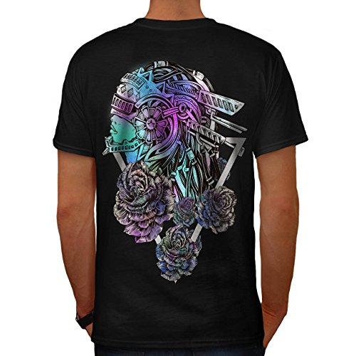 Kostüm Mech Anzug (Mech Stilvoll Rose Mode Blume Modus Herren M T-shirt Zurück |)