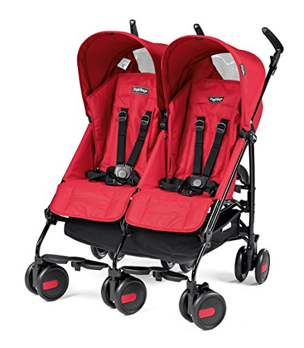 Peg Perego DPMTA1MRED Zwillingsbuggy Pliko Mini Twin, rod red