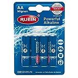 RUBIN Powerful Alkaline Batterie AA 4 Stück
