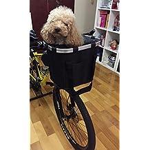 Perro al aire libre bicicleta de viaje plegable cesta impermeable 600d Oxford marco de aleación de aluminio incluido 1conjunto de accesorios negro
