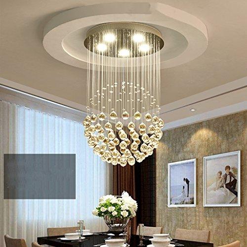 Lustre Ronde cristal lustre moderne minimaliste allée chaude duplex escaliers chambre vêtements magasin salon restaurant lustres Éclairage décoratifA+ ( taille : 40*60cm )