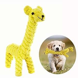 Cisixin Giocattolo Masticazione del cane in Cotone a Forma Della Giraffa Denti Pet Giocattoli Animali Cani