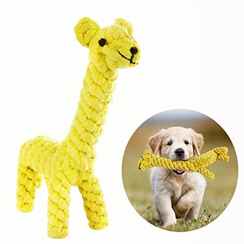 Cisixin Hundespielzeug Baumwolle Seil Spielzeug Chew Zahnreinigung für kleine Hundewelpen Giraffe