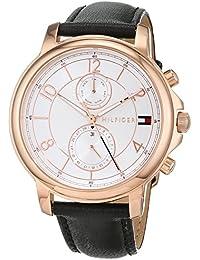 Tommy Hilfiger Damen Multi Zifferblatt Quarz Uhr mit Leder Armband 1781817