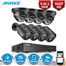ANNKE Kit de 8 Cámaras de Vigilancia 960P (Onvif H.264 CCTV DVR P2P