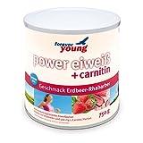 Forever Young Power Eiweiß + L-Carnitin, 750g Dose, Erdbeer-Rhabarber