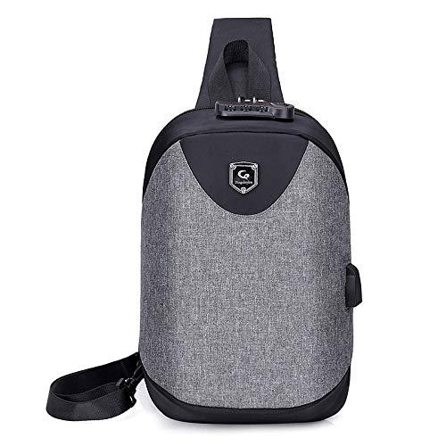 2019 Neue europäische und amerikanische Männer Brusttasche Schulter Messenger Bag lässig kleinen Rucksack (Nike Messenger Bag Für Männer)
