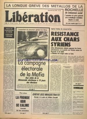 NOUVELLE REPUBLIQUE (LA) du 14/05/1976 - DIEU NOUS L'AVONS TUE PAR VEILLET - AFFAIRE CECCALDI - ELECTIONS MUNICIPALES DE 1977 - LA CATASTROPHE FERROVIAIRE DE VIERZY - CANNES / LE SIGNE DU BICENTENAIRE DES ETATS-UNIS - LES CONFLITS SOCIAUX - LA MAREE NOIRE MENACE DEDORMAIS LA COTE DE GALICE - LE TELEPHONE FRANCAIS SERE ELECTRONIQUE - RETOUR TRIOMPHALE DES VERTS par Collectif