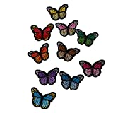 #10: Baoblae Popular Style 10 pcs Chic Embroidery Sewing On Applique Patch Clothes Patch