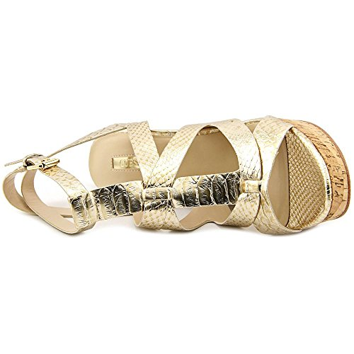 Guess Harlea Femmes Synthétique Talons Compensés gold