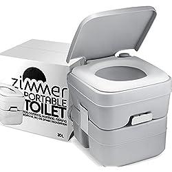 Tragbare Toilette Camping Porta Töpfchen - 20L Tank, Langlebig, Auslaufsicher, Spülbar Leicht zu Bedienendes Wohnmobil-WC Mit Abnehmbaren Tanks für Müheloses Reinigen und Tragen, Bootfahren und Reisen