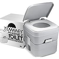 ZIMMER Camping WC 5Gallon Toilettes Portables–Petite Porta Pot avec de Grandes Performances pour Voyage et extérieur