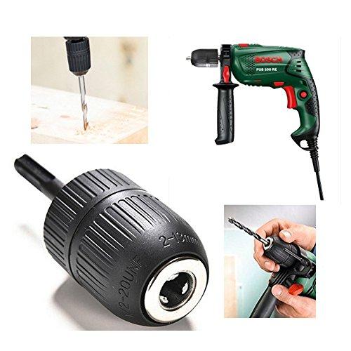 Malayas® Schnellspann Bohrfutter Schnellspann HSS Schnellverschluss 2 bis 13 mm mit SDS Adapter für Bohrmaschine Keyless Chuck Werkzeug