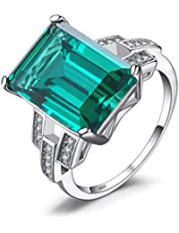 Jewelrypalace 6.64ct Damen Luxus Grün Simulierte Nano Russisch Smaragd Rubin Saphir Ringe Silberring 925 Sterling Silber