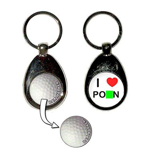 Preisvergleich Produktbild I Love Heart Porn - Golfball-Markierung Key Ring