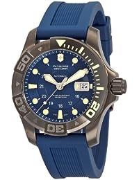 Victorinox Professional 241425 - Reloj analógico automático para hombre, correa de goma color azul