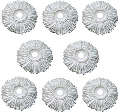 Royal Export Pack of 8 Replacement Head Refill for 360 Rotating Easy Mop Magic Mop Spin Mop Cleaner Duster  available at amazon for Rs.410
