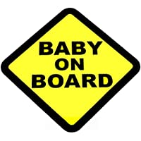 BABY ON BOARD WARNING SAFETY SIGN Sticker Vinyl Decal for car vehicle window