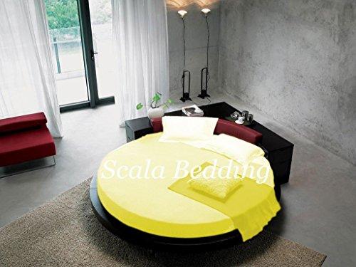 - rund Bettlaken Bettwäsche SCALABEDDING 400TC 100% ägyptische Baumwolle Königin 84cm Durchmesser-Butter -