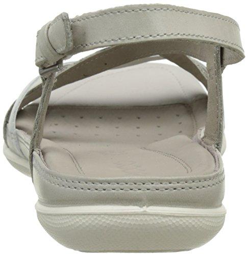 Ecco Damen Flash Offene Sandalen mit Keilabsatz Beige (58498gravel/white)