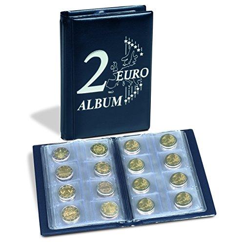 Leuchtturm 350454 Münzalbum Route 2-Euro  Taschenalbum für 48 2€-Münzen   Mit 2 Euro Deckelprägung   blau