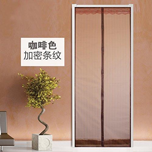 Preisvergleich Produktbild rugai-ue Weich Magnetische Mosquito Tür Bildschirm unsichtbar Fenster Vorhang tragen frei Verschlüsselung, coffee