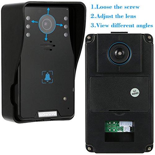 KKMOON 7 Zoll Video Tür Telefon Wasserdicht Intercome Türglocke Touch Button/Remote Entsperren Night Vision Regendichtes Security CCTV-Kamera-Startseite Überwachung TP02K21