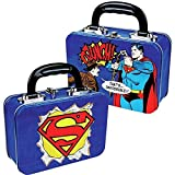 DC Comics - Superman Retro Blechkoffer Brotdose Lunchbox (Superman Comic Print That's Impossible)