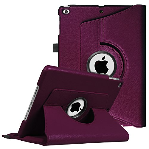 Fintie iPad 9.7 Zoll 2018 2017 / iPad Air Hülle - 360 Grad Rotierend Stand Cover Case Schutzhülle mit Auto Schlaf/Wach Funktion für Apple iPad 9,7'' 2018 2017 / iPad Air 2 / iPad Air, Lila