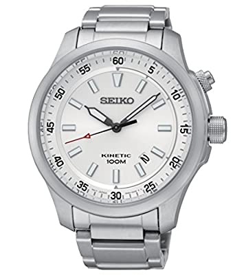 Seiko Kinetic Men's Watch Analogue Quartz Stainless Steel SKA683P1
