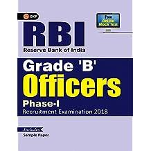 RBI Reserve Bank of India Grade 'B' Officers Phase-I Recruitment Examination 2018