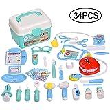 Balnore Arztkoffer Arzt Spielzeug Doktorkoffer 34 Stück Doktor Lernspielzeug Kinderarztkoffer Arztköfferchen für Kinder ab 3 Jahre