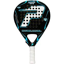 Power Padel 1000 2012 - Pala, color negro / blanco, 38 mm