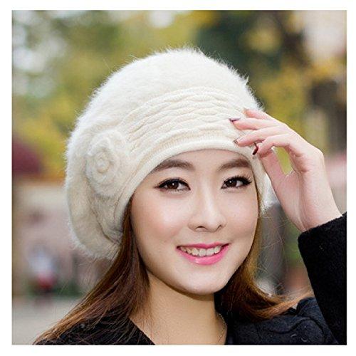 2PCS L'hiver Les Femmes La Corée Chapeau Mignon La Mode Les Peintres Casquettes Chapeau De Voyage En Plein Air Beige