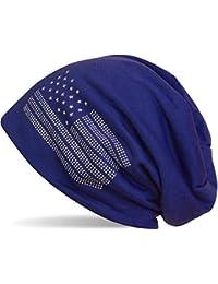 styleBREAKER Gorro Beanie Elegante en diseño con la Bandera de EE.UU. y  Remaches 919d0f85762